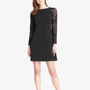 NWT Tommy Hilfiger Lace Sleeve A-Line Dress in Black